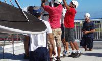 CLS Meteo Tahiti France installing reflector DSC09131p