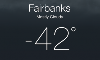 Fairbanks -42 F