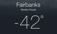 Fairbanks -42 F